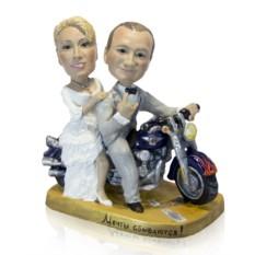 Статуэтка по фото Свадьба байкеров