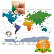 Карта мира со стирающимся скретч слоем «TrueMap»