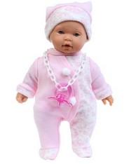 Кукла-младенец Пепе в розовом