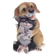 Декоративная фигурка для сада Собачка с кошкой