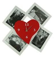 Фоторамка-часы Сердце