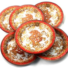Набор из 6 тарелок Дракон