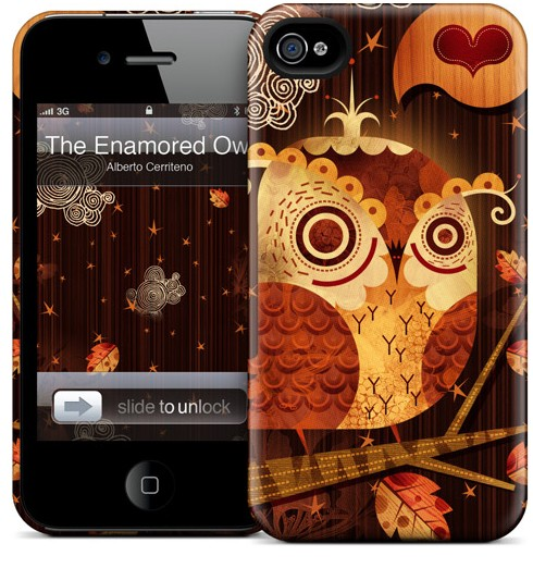 Чехол для iPhone 4/4S Gelaskins The Enamored Owl