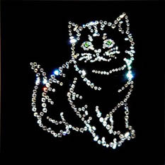 Хрустальная картина «Котик»