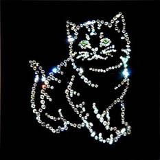 Картина с кристаллами Swarovski «Котик»