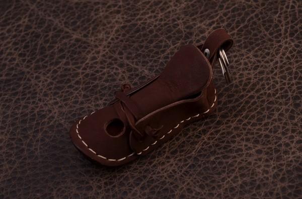 Брелок для ключей. Коллекция Magistro (Коричневый; тип 3; нат. кожа)