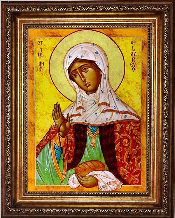 Икона на холсте Иулиания Лазаревская, Муромская праведная