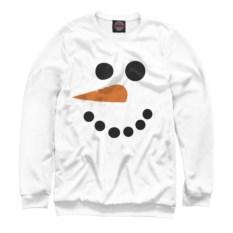Женский свитшот Снеговик (минимализм)
