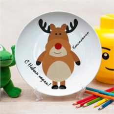 Именная тарелка Олень