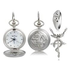Карманные часы, кольцо и подвеска Fullmetal Alchemist
