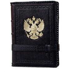 Черный ежедневник формата А5 Россия Златоглавая