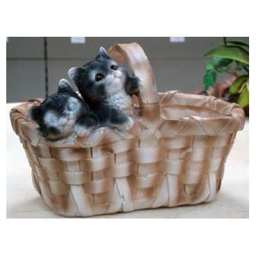 Кашпо «Котята в лукошке»