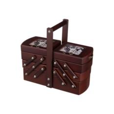 Оригинальная деревянная шкатулка для рукоделия