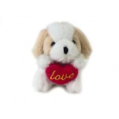 Мягкая игрушка-брелок Собачка с сердечком