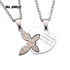 Кулон для влююбленных Бабочка и сердце