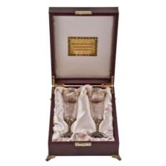 Набор из 2-х бокалов для шампанского Богемия (в футляре)