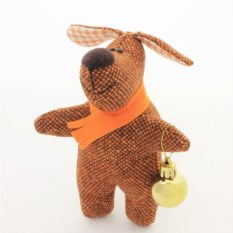 Игрушка ручной работы Собака новогодняя. Пеструшка