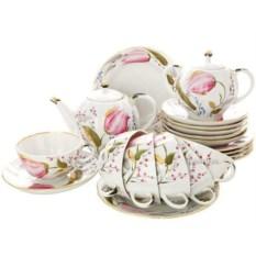 Чайный сервиз на 6 персон Розовые тюльпаны