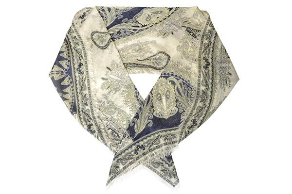 Синий женский платок Fabretti (вискоза)