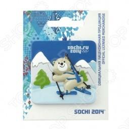 Магнит Sochi 2014 «Биатлон с Белым Мишкой
