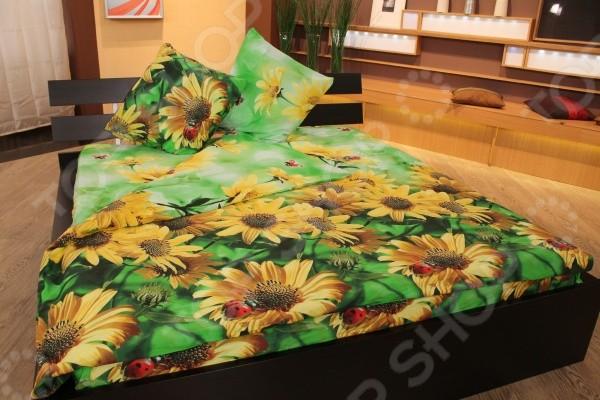 Комплект постельного белья Лето. Семейный