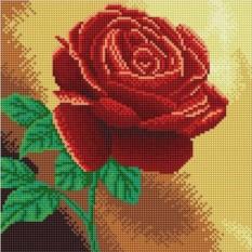 Алмазная вышивка «Красная роза»