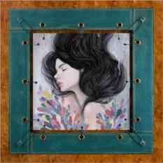 Картина из кожи Безмятежность Одри Кавасаки