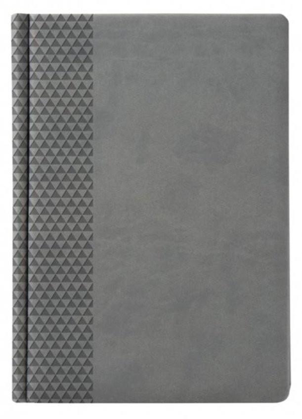 Недатированный серый ежедневник Brand
