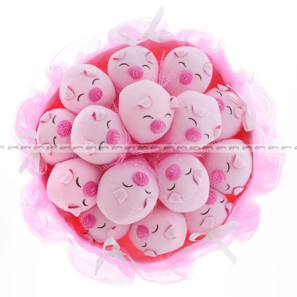 Букет из игрушек Очаровательные влюблённые поросята