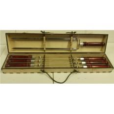 Набор профессиональных шампуров 620х16х2,5 мм.(6 шт+двойной)