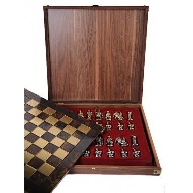 Малые металлические шахматы «Античные войны»