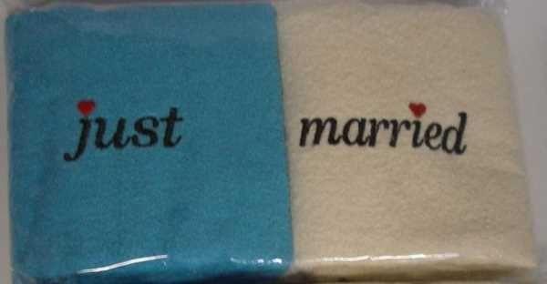Набор полотенец Just married