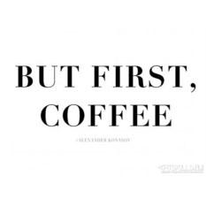 Женская футболка But first coffee