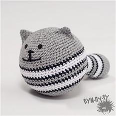 Игрушка-круглый кот Кошарик Серый