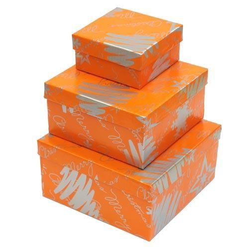 Коробка подарочная в ассортименте (оранжевая)