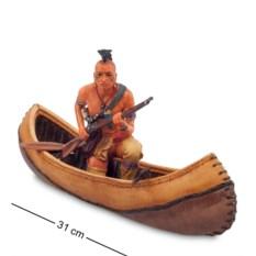 Статуэтка Индеец на каноэ