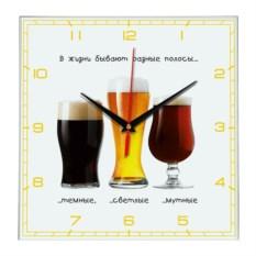 Настенные часы «Пиво прикол»