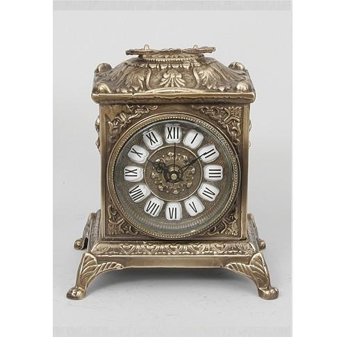 Часы бронзовые каминные квадратные