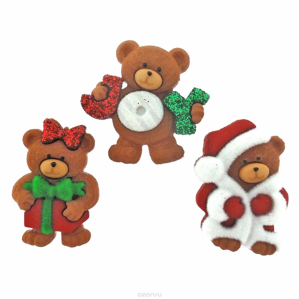Декоративные пуговицы Dress It Up Рождественские мишки
