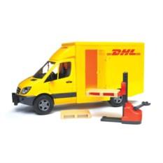 Игрушка Sprinter фургон DHL с погрузчиком