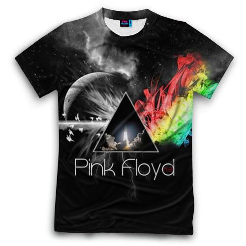 Мужская футболка 3D с полной запечаткой Pink Floyd