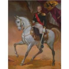 Портрет мужчины на коне