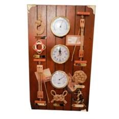 Метеостанция; термометр, барометр, гигрометр и часы