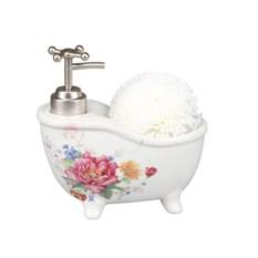 Дозатор для моющего средства с губкой Цветок