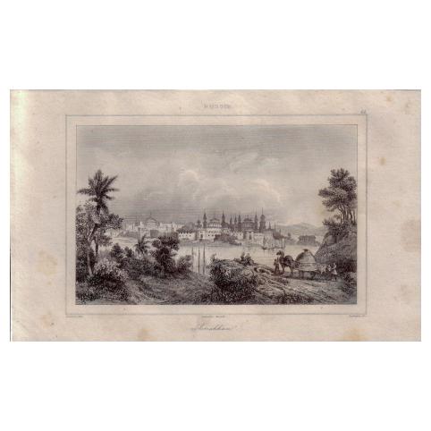 Гравюра «Панорама Астрахани»
