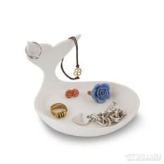 Белая подставка для ювелирных изделий Baby whale