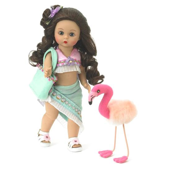 Кукла «Девочка из Майами с фламинго»