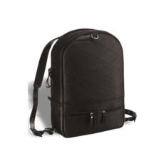 Черный кожаный рюкзак-трансформер Brialdi Joker