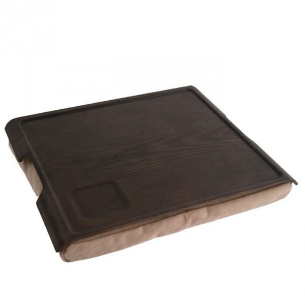 Подставка с деревянным подносом Laptray, венге/коричневая