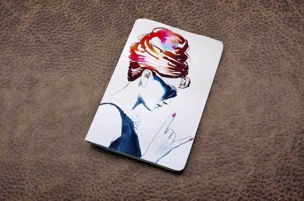 Кожаная обложка для паспорта (белый, Крутая Одри)